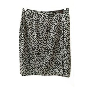Worthington leopard print wrap short
